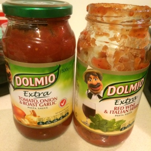 I used Dolmio because it was on sales